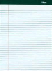 Refillpads / Notepads