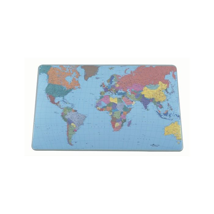 Desk pad world map 62x44 office stationery in cyprus office desk pad world map 62x44 gumiabroncs Images