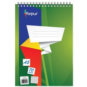 Spiral Note Book A5 70 Sheets Office Stationery In